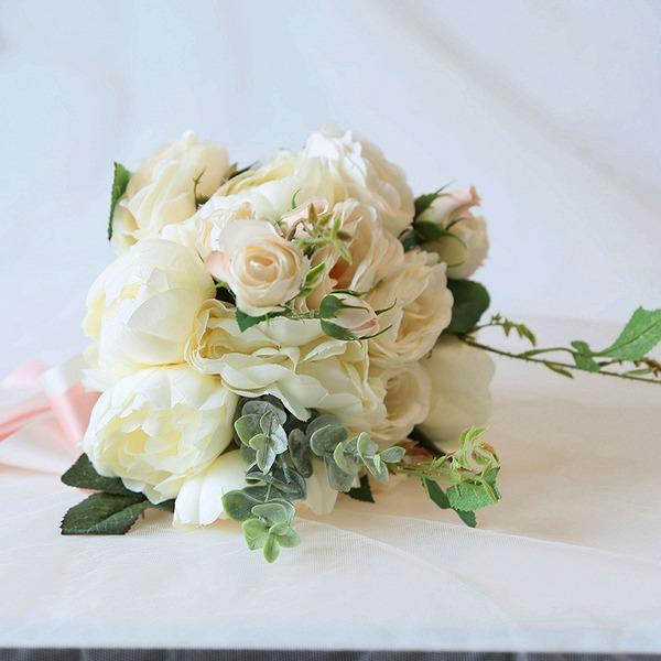 Hånd Bundet Kunstige Blomster Brude Buketter (som selges i et enkelt stykke) - Brude Buketter