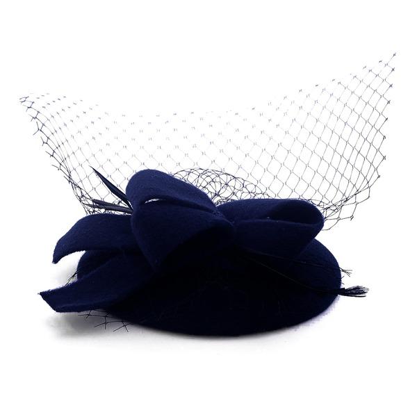 Dames Beau Coton avec Tulle Béret Chapeau/Chapeaux Tea Party