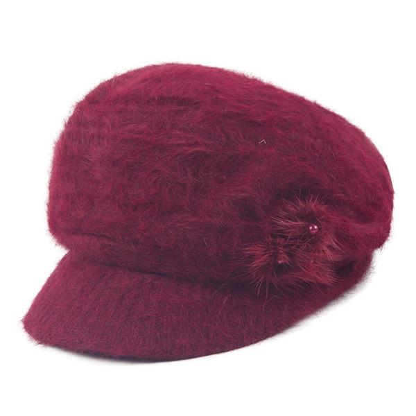 Dames Eenvoudig Polyester Baret van Hat
