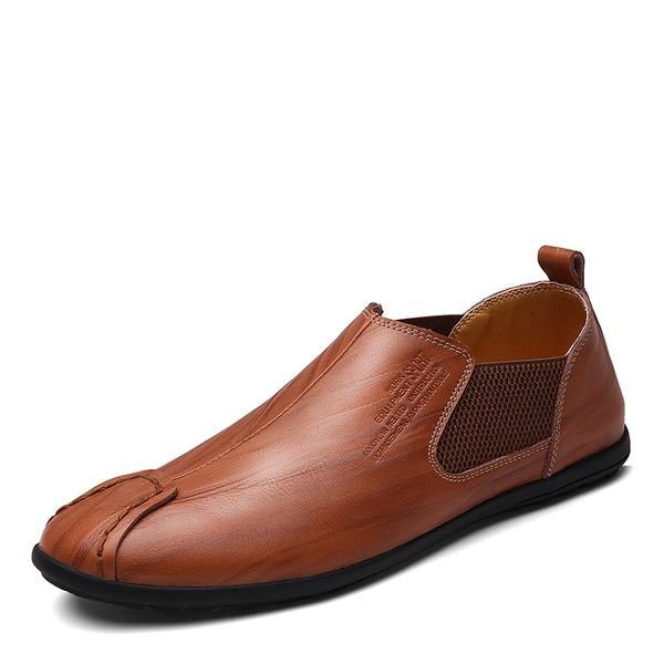 Menn Egte Lær Penny Loafer Avslappet Loafers til herre