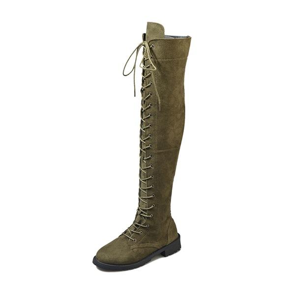 Женщины кожа Низкий каблук Ботинки обувь