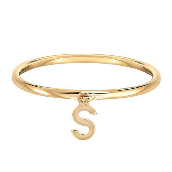 Personalizado Senhoras Mais quente 925 prata esterlina Inicial Anéis Ela/Amigos/Noiva/Dama de honra/Menina das flores