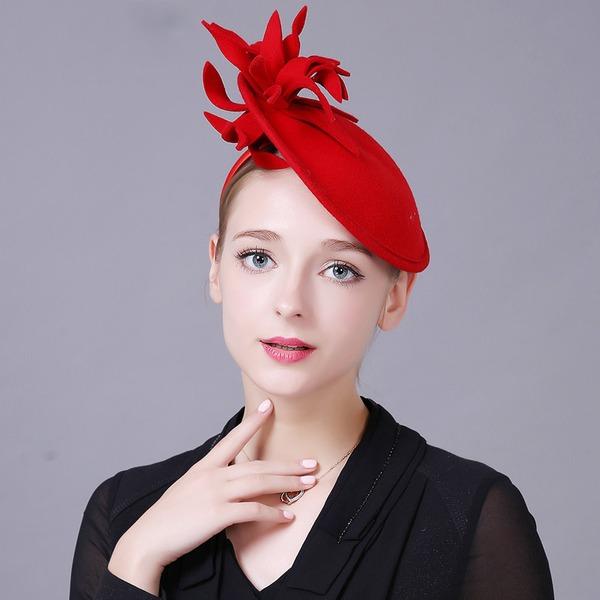 Dames Speciaal/Elegant Wol met Bloem Baret van Hat