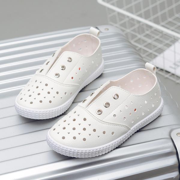 Unisexe similicuir talon plat Bout fermé Chaussures plates avec Ouvertes