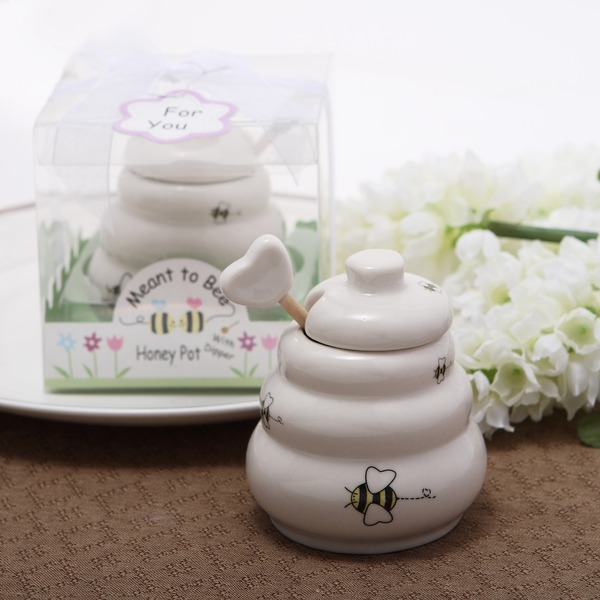 """Sweet As Can Bee"" Ceramic Honey Pot"
