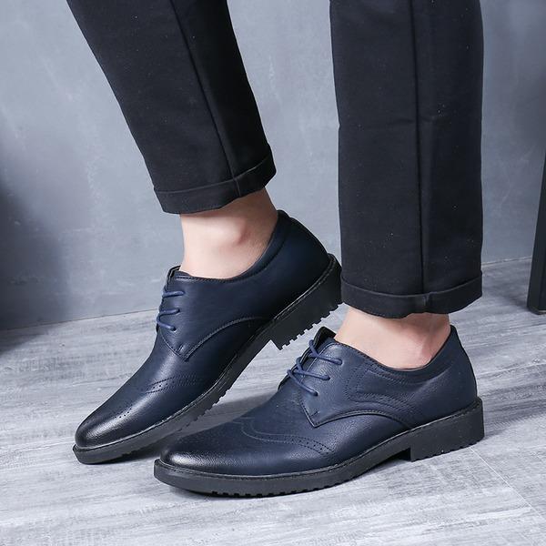 Erkek mikrofiber deri Bağcıklı Elbise Ayakkabıları İş Erkek Oxford Ayakkabı