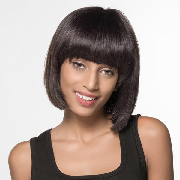 Rett Bob Human Hair Parykker African American Parykker
