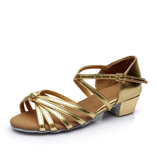 De mujer Cuero Sandalias Danza latina con Hebilla Agujereado Zapatos de danza