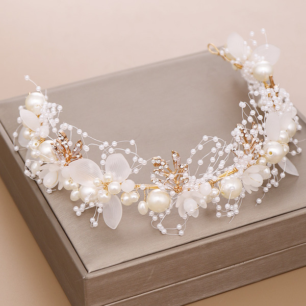 Ladies Fancy Rhinestone/Alloy/Pearls Headbands (Sold in single piece)