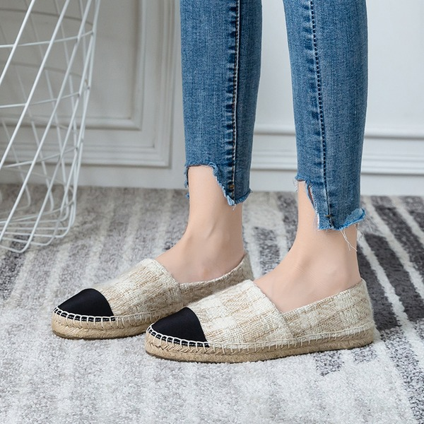 Женщины ткань Плоский каблук На плокой подошве Закрытый мыс обувь