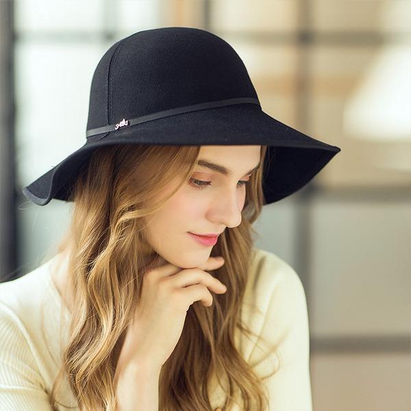 Señoras' Hermoso/Maravilloso/Estilo clásico Madera Bombín / cloché Sombrero