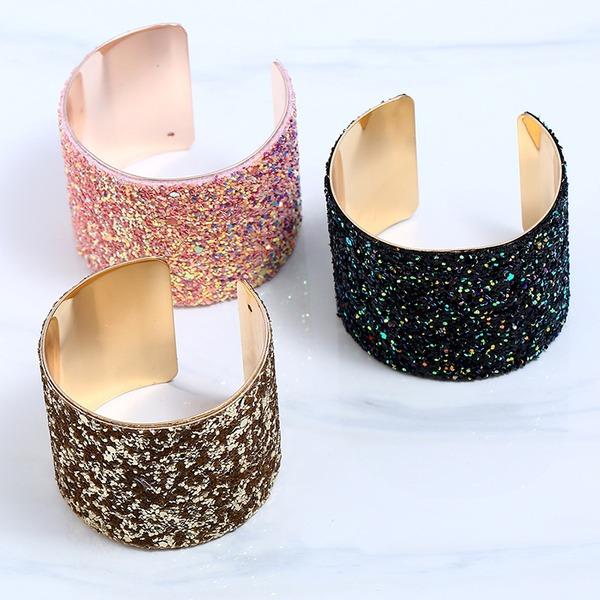 Glänzende Legierung Damen Mode Armbänder (Sold in a single piece)