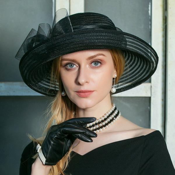 Damene ' Nydelig Cambric med Rhinestone Diskett Hatt