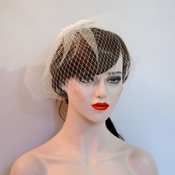 Ladies Beautiful Net Yarn/Voile Forehead Jewelry/Hats