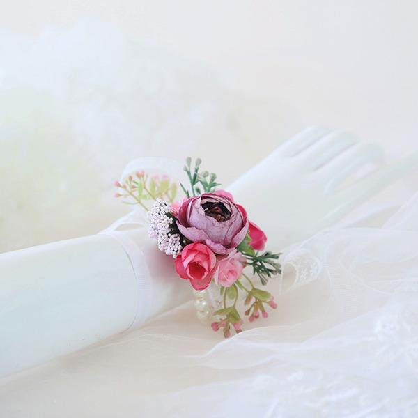Fiori Artificiali Polso corsage (venduto in un unico pezzo) -
