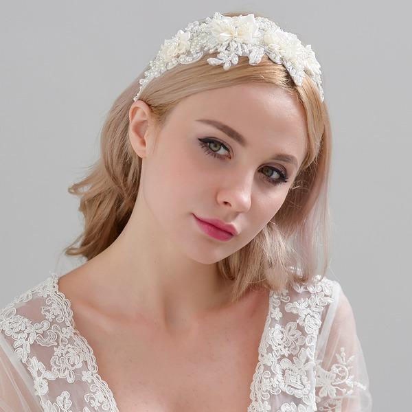 Damen Exquisiten Satin Stirnbänder mit Venezianischen Perle (In Einem Stück Verkauft)