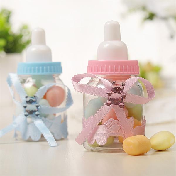 Creativo A Forma di Bottiglia Plastica Barattoli e Bottiglie con Nastri (set di 12)