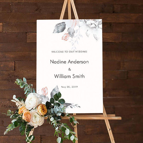 Billboard Adhesive paper Personalized (Sold in a single piece) Pretty Table Centerpieces