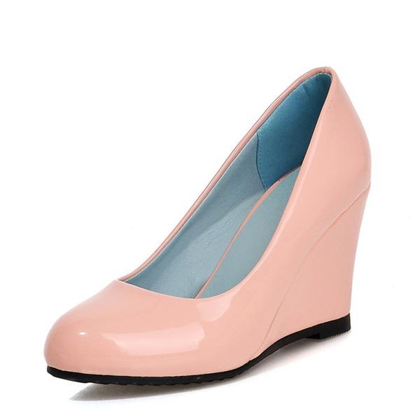Kvinder Patenteret Læder Kile Hæl Pumps Kiler med Andre sko
