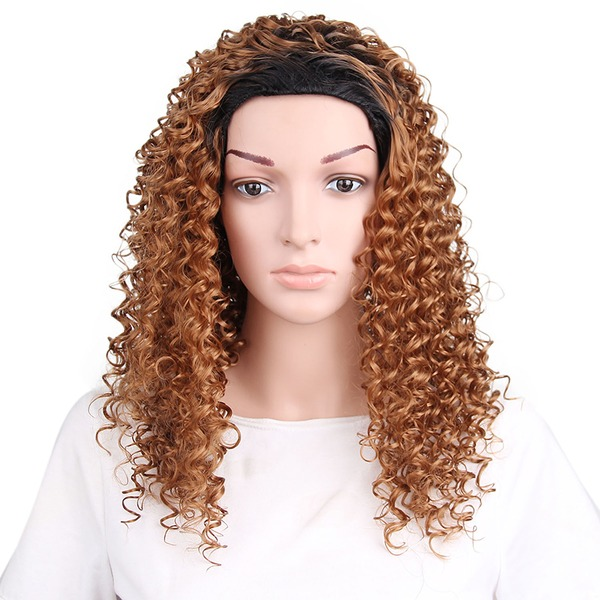 Curly Capless Synthetic Wigs