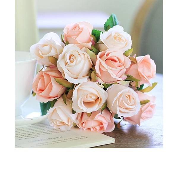 Romantico Seta artificiale Mazzi da sposa/Decorazioni/Fiori de Tavolo de Matrimonio (Set di 3) -