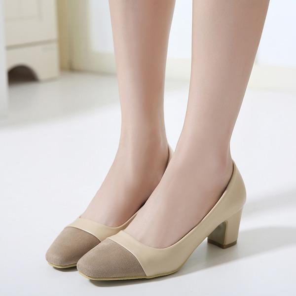 Femmes Suède Talon stiletto Escarpins Bout fermé avec Semelle chaussures