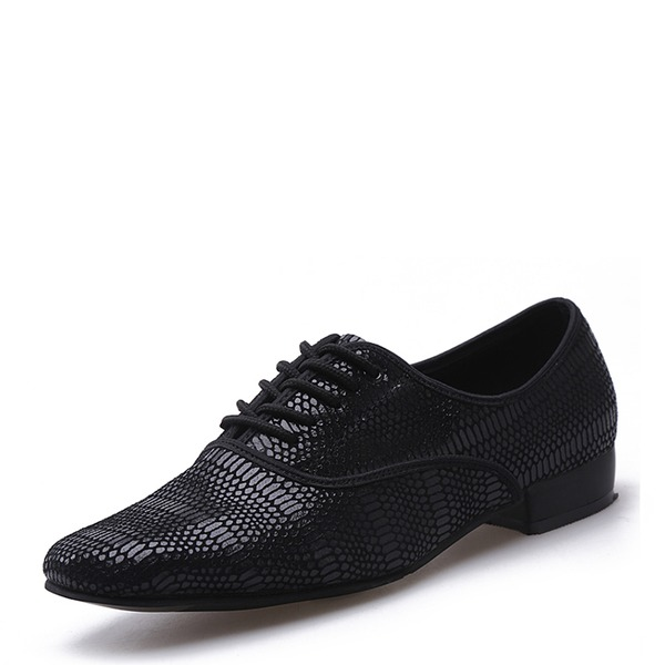 Hommes Vrai cuir Latin Modern Style Chaussures de danse