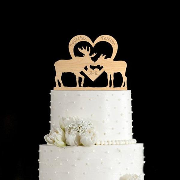 Personalizado Rena Madeira Decorações de bolos