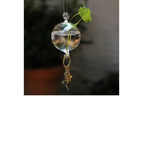 Durchmesser 10cm Hübsche Hängen Runde Glas Vase (In Einem Stück Verkauft)