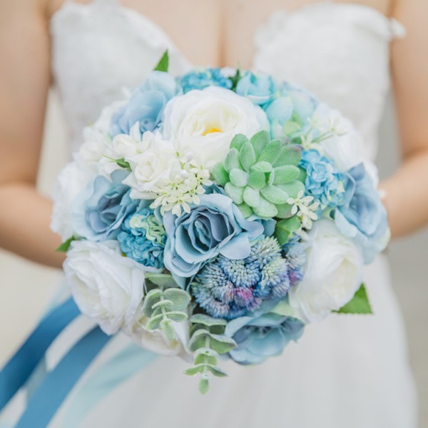 Charming Satin/Fabric Bridal Bouquets -