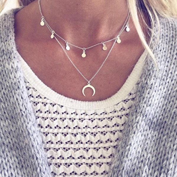 Simple Alloy Ladies' Fashion Necklace (Sold in a single piece)