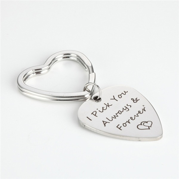 Simple/Elegant Heart Shaped Stainless Steel Keychains