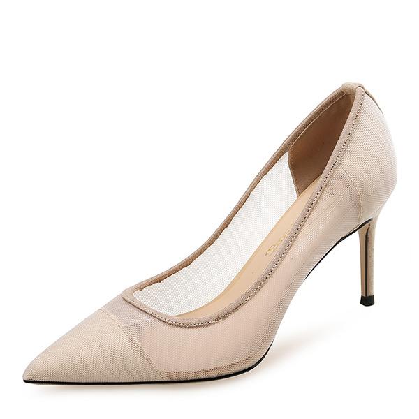 Naisten Mesh Piikkikorko Avokkaat Suljettu toe kengät