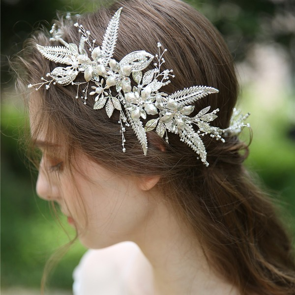Dámy Krásný Drahokamu/Slitina/Faux Pearl Korunky S Drahokamu/Venetian Pearl (Prodává se jako jeden kus)