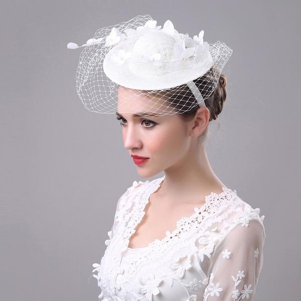 Dames Beau/Charmant/Mode/Spécial Lin avec Tulle/Une fleur Chapeaux de type fascinator