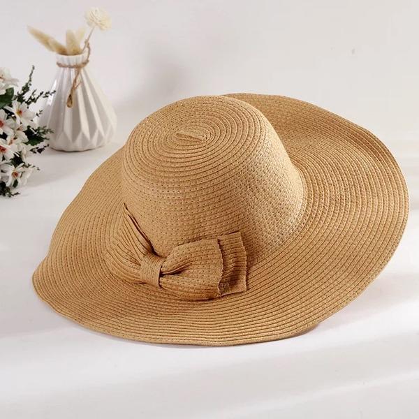 женские Специальный/Гламурный/Элегантные/простой/Привлекательным/Необычные Плетеная соломы с бантом соломенная шляпа