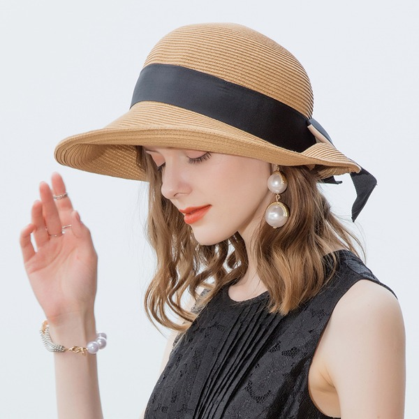Senhoras Clássico/Elegante/Simples/Vintage/Artístico Papiro Chapéus praia / sol