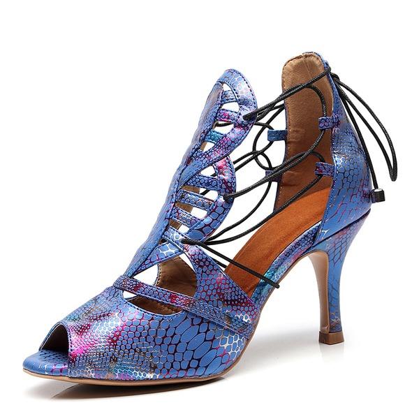 Donna Similpelle Tacchi Latino Scarpe da ballo