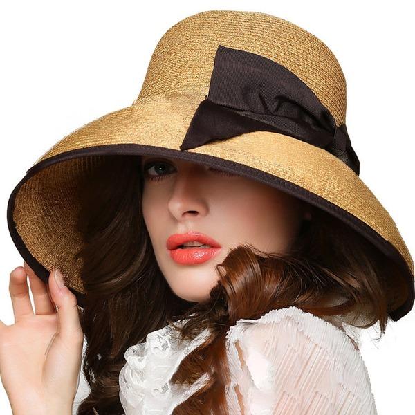Dames Beau Rotin paille avec Bowknot Chapeau de paille/Kentucky Derby Des Chapeaux