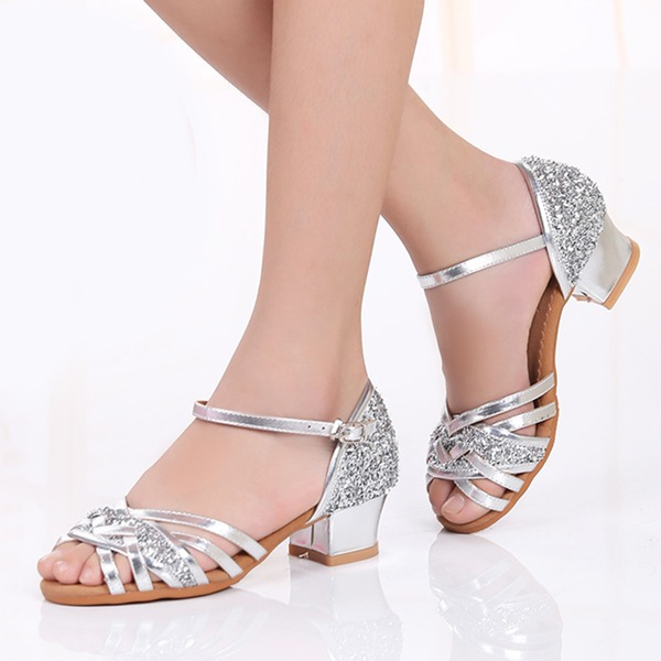 Kids' Sparkling Glitter Heels Latin Dance Shoes