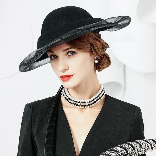 Senhoras Moda/Elegante/Romântico/Vintage/Artístico Lã Fascinators