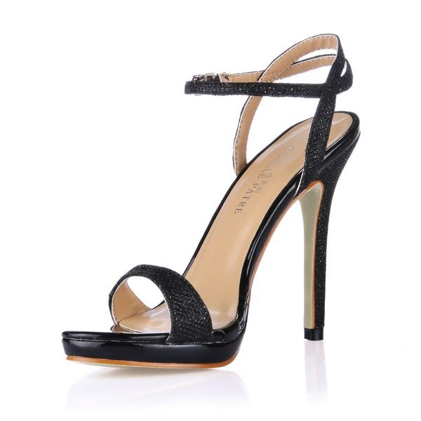 Женщины кожа Высокий тонкий каблук Сандалии Босоножки обувь