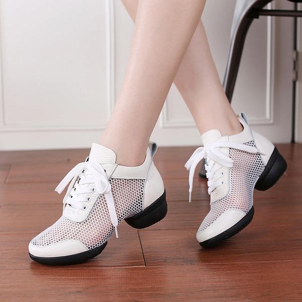 Donna Similpelle Mesh Sneakers stile moderno Scarpe da Ginnastica Prova Scarpe da ballo