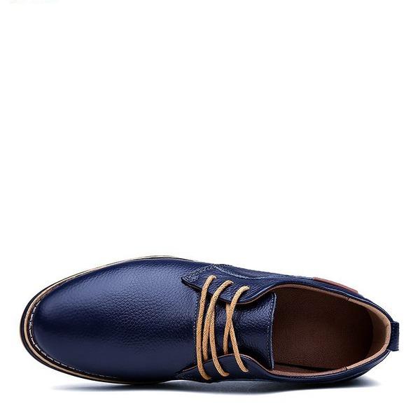 Erkek gerçek deri Bağcıklı Elbise Ayakkabıları Erkek Oxford Ayakkabı