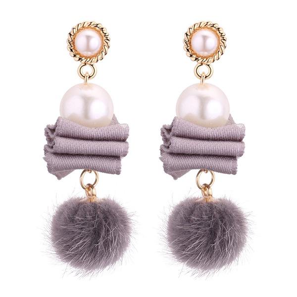 Мода сплав Перлы ложный женские серьги
