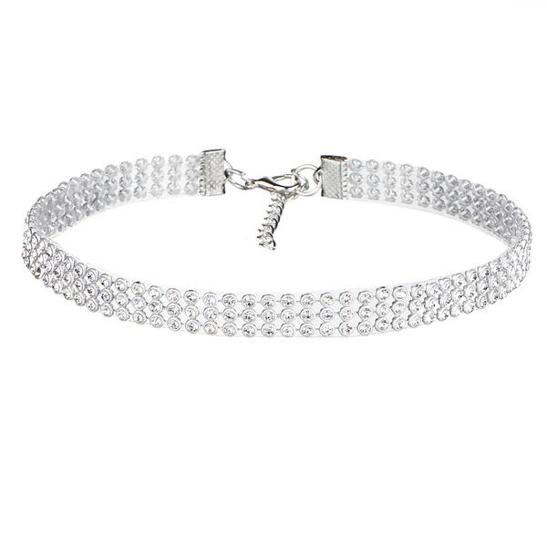 Schickes Legierung Strasssteine mit Strass Damen Mode-Halskette
