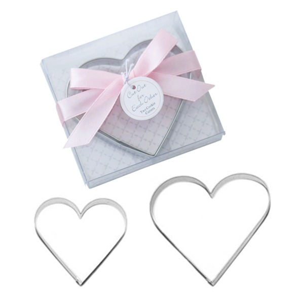 "Heart Shaped/""Love Songs"" Heart Shaped Metal Cake and Cookie Cutter Mold (Set of 2 pieces)"