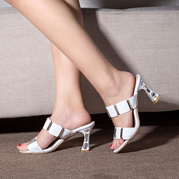 Vrouwen Kunstleer Stiletto Heel Sandalen Pumps Peep Toe Slingbacks met Strass schoenen