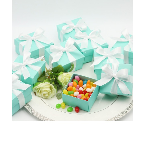 Tiffany Blue Favor Box (with Ribbon) (Set of 12)