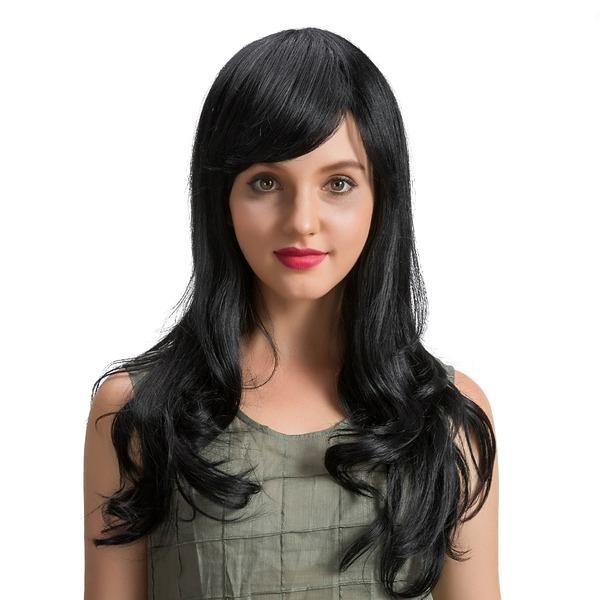Bølgete Human Hair Parykker